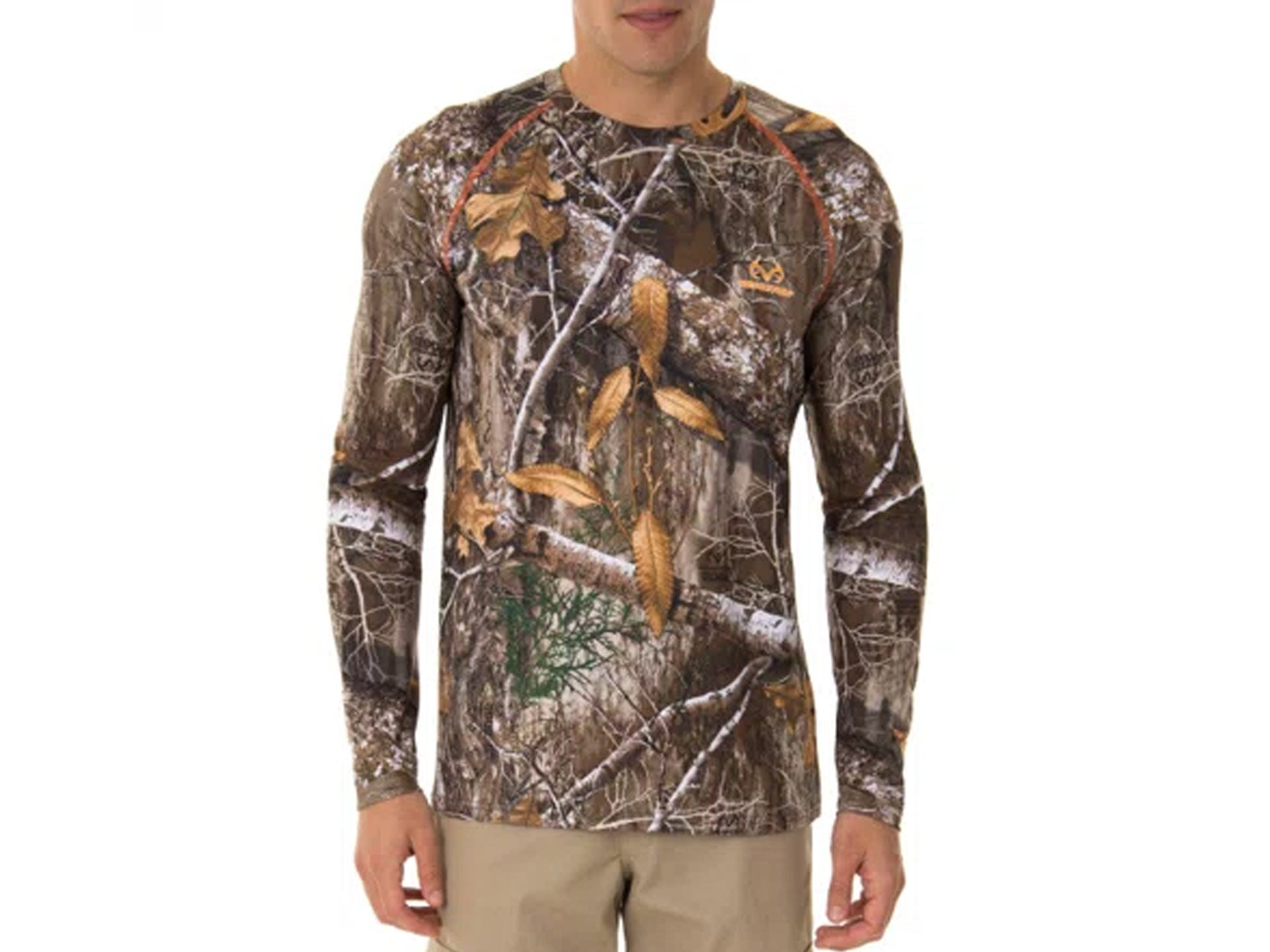 Long-sleeve camo T-shirt