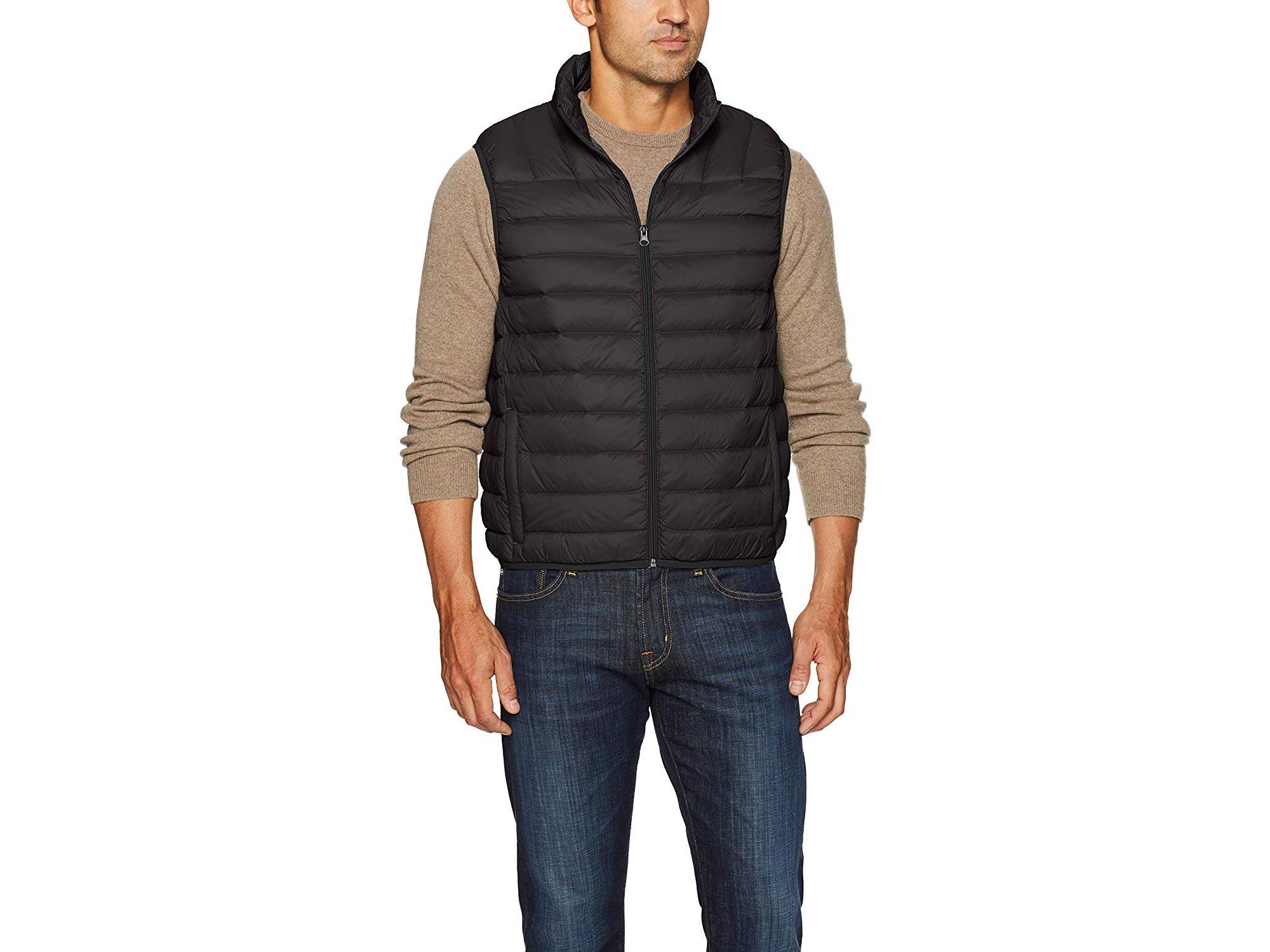 Hawke & Co Men's Lightweight Down Packable Puffer Vest