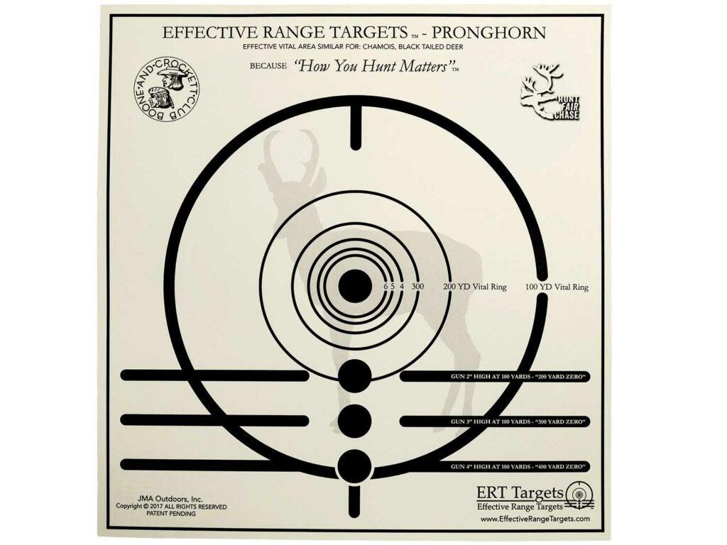Effective Range Targets for Pronghorns.