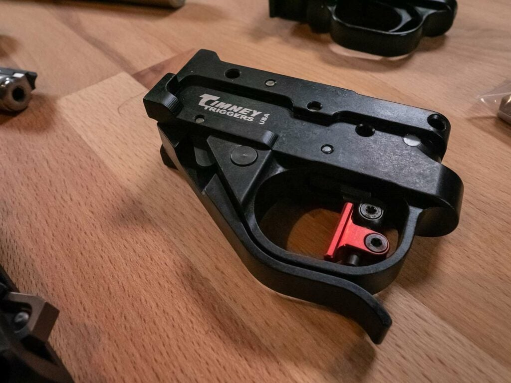custom timney trigger for a rifle build