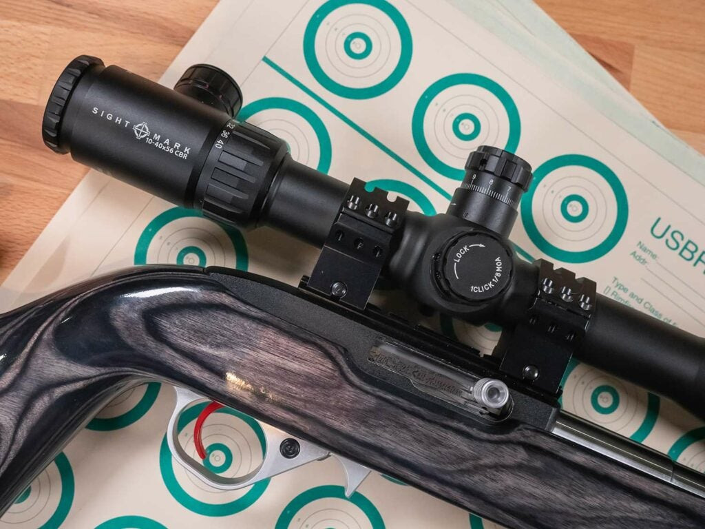 custom rifle equipped with riflescope