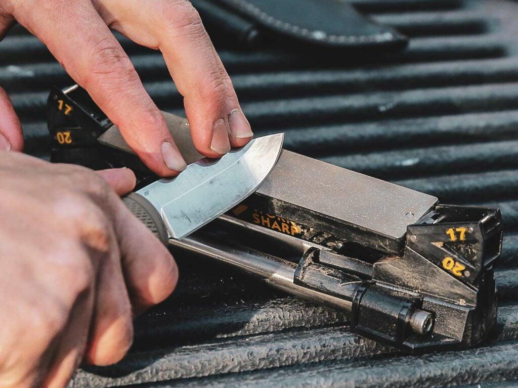 httpspush.fieldandstream.comsitesfieldandstream.comfilesimages201910diamond-coated-steel-plate-knife-sharpening.jpg