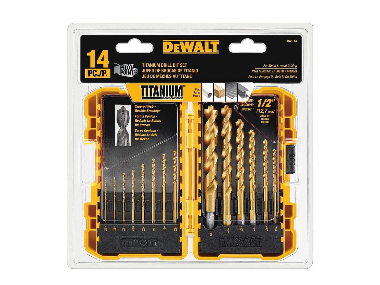 DEWALT Drill Bit Set, Titanium, 14-Piece