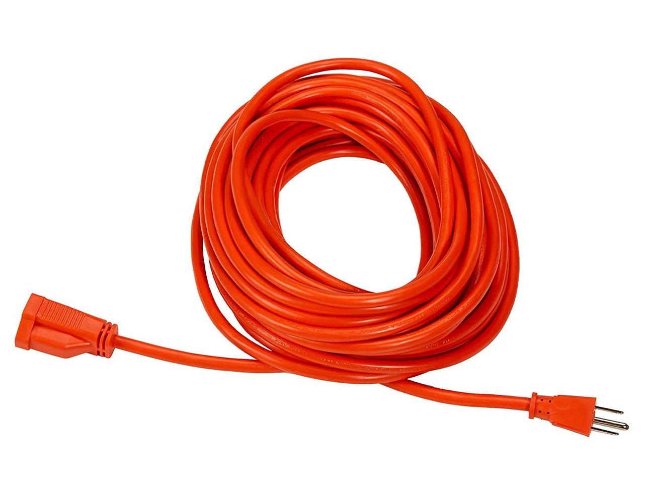 AmazonBasics 16/3 Vinyl Outdoor Extension Cord   Orange, 50-Foot
