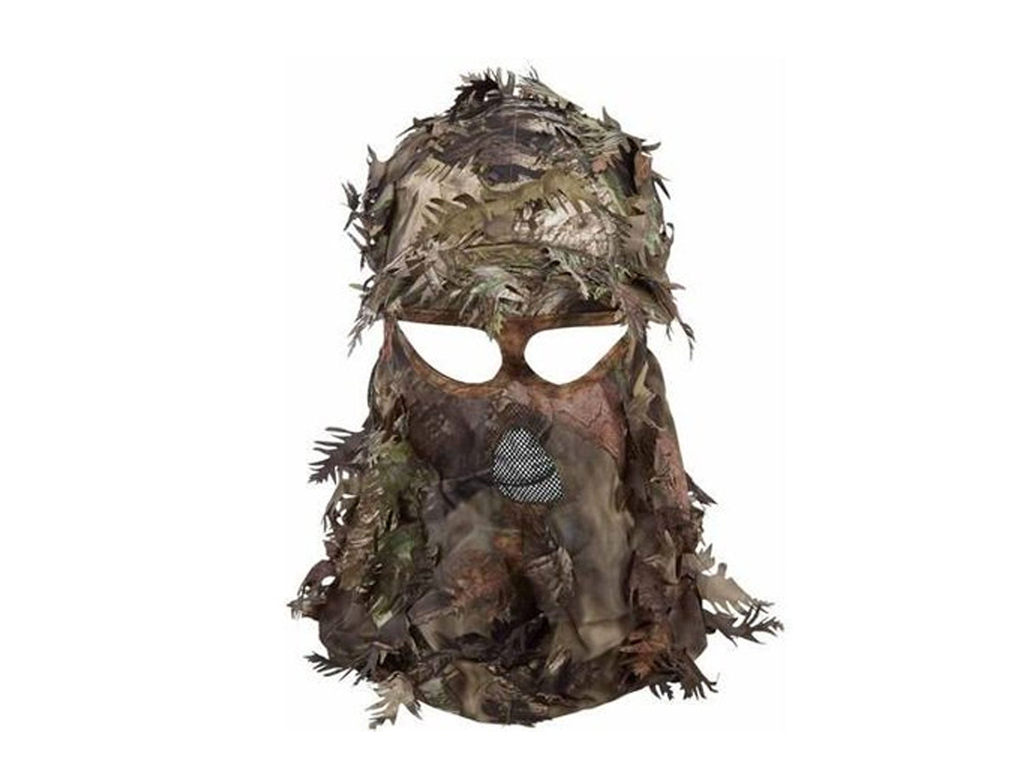 A camo hat/face mask combo