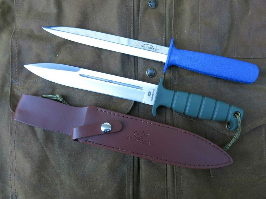 butcher pig sticker knife and mossy oak