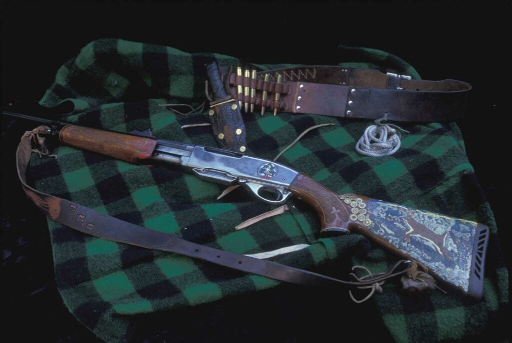 a collection of big buck hunting gear