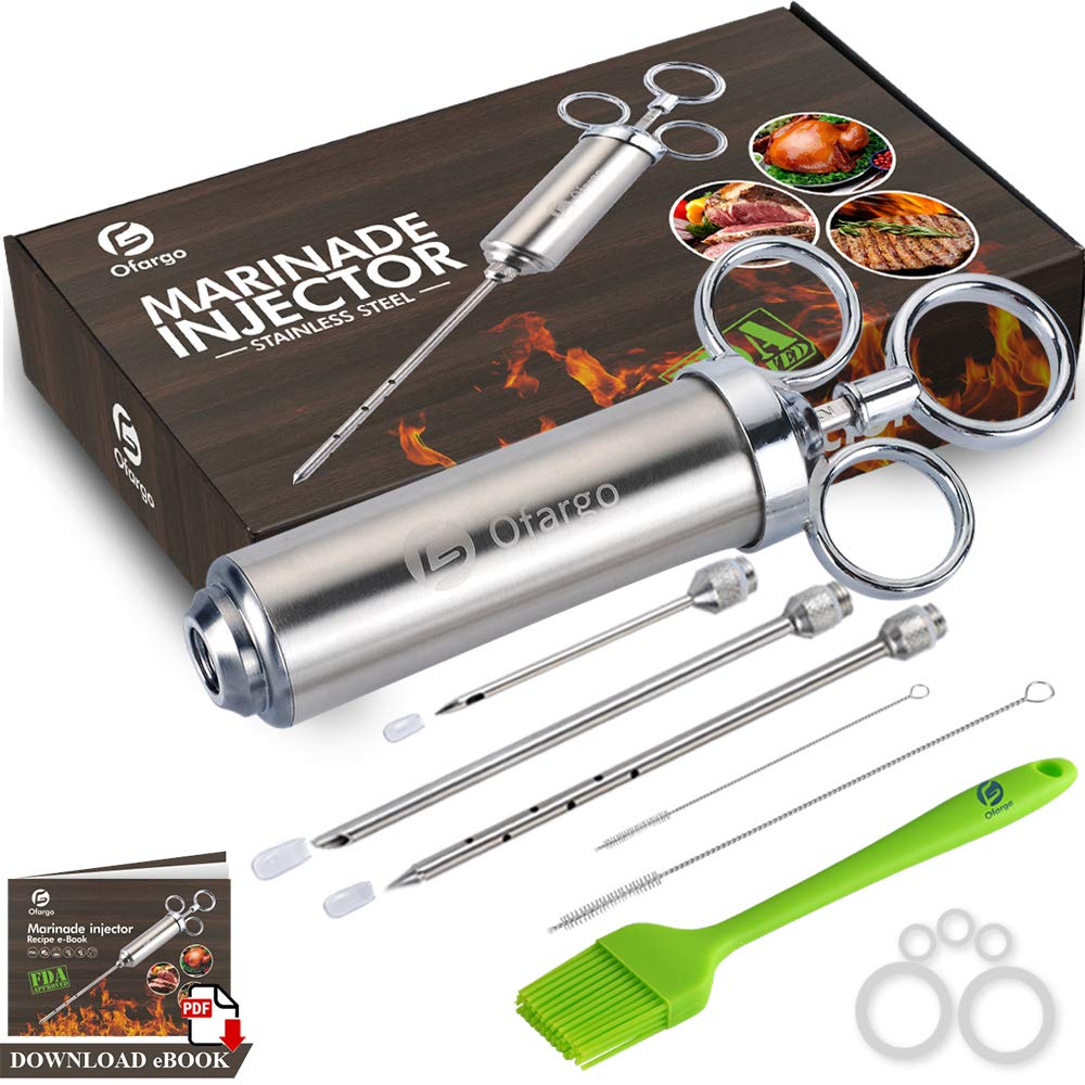 Ofargo Stainless Steel Meat Injector Syringe