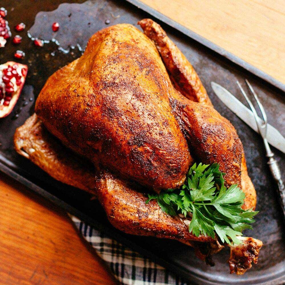 Beautiful golden roasted turkey