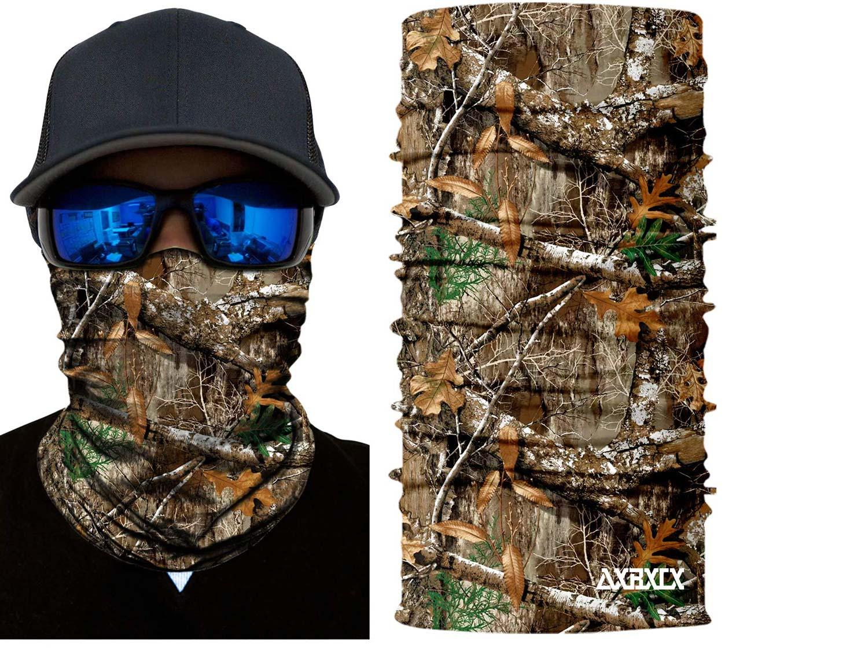 AXBXCX 2 Pack - Camouflage Print Seamless Neck Gaiter Bandana Face Mask