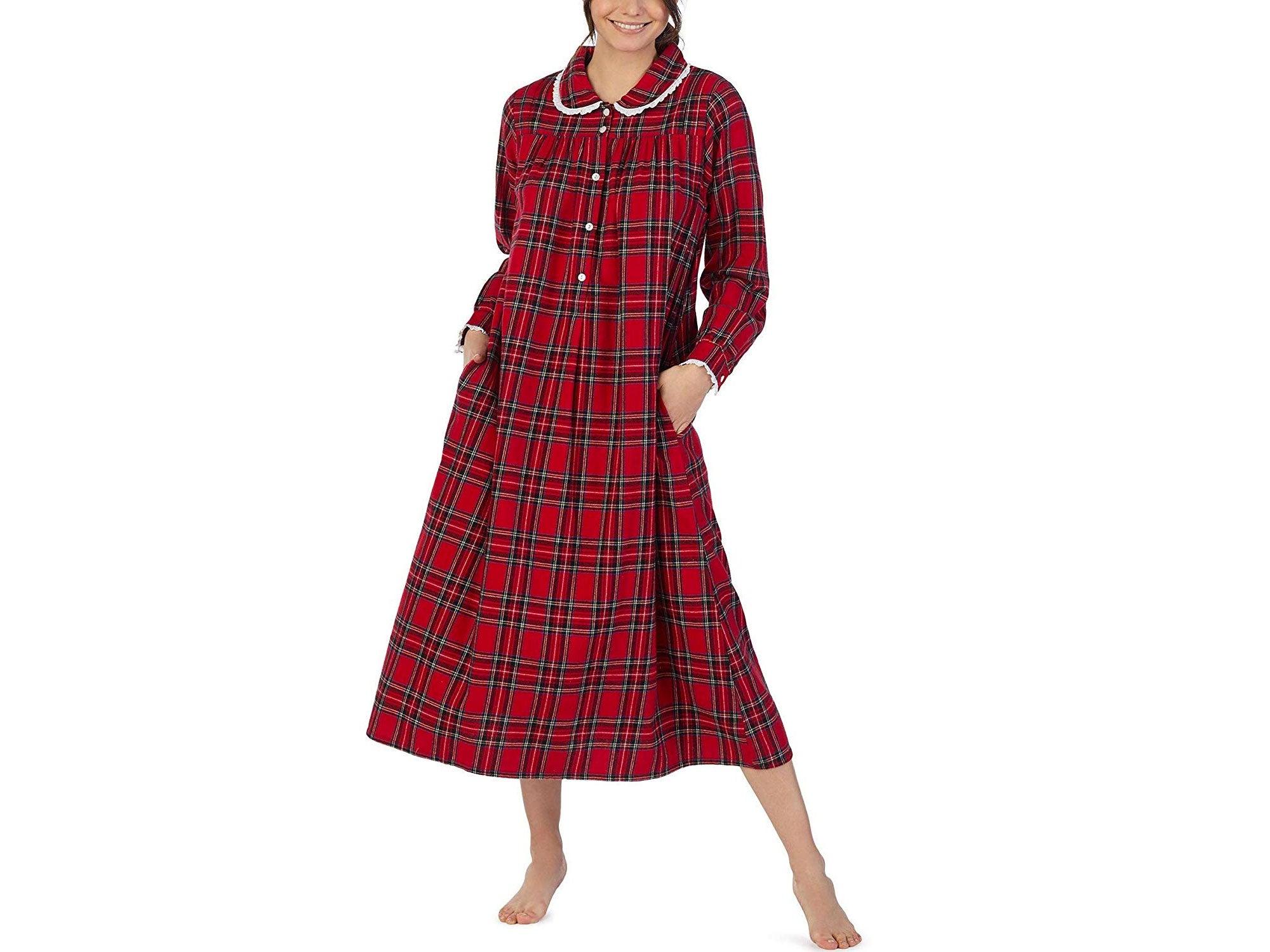 Lanz of Salzburg Women's Long Sleeve Flannel Gown
