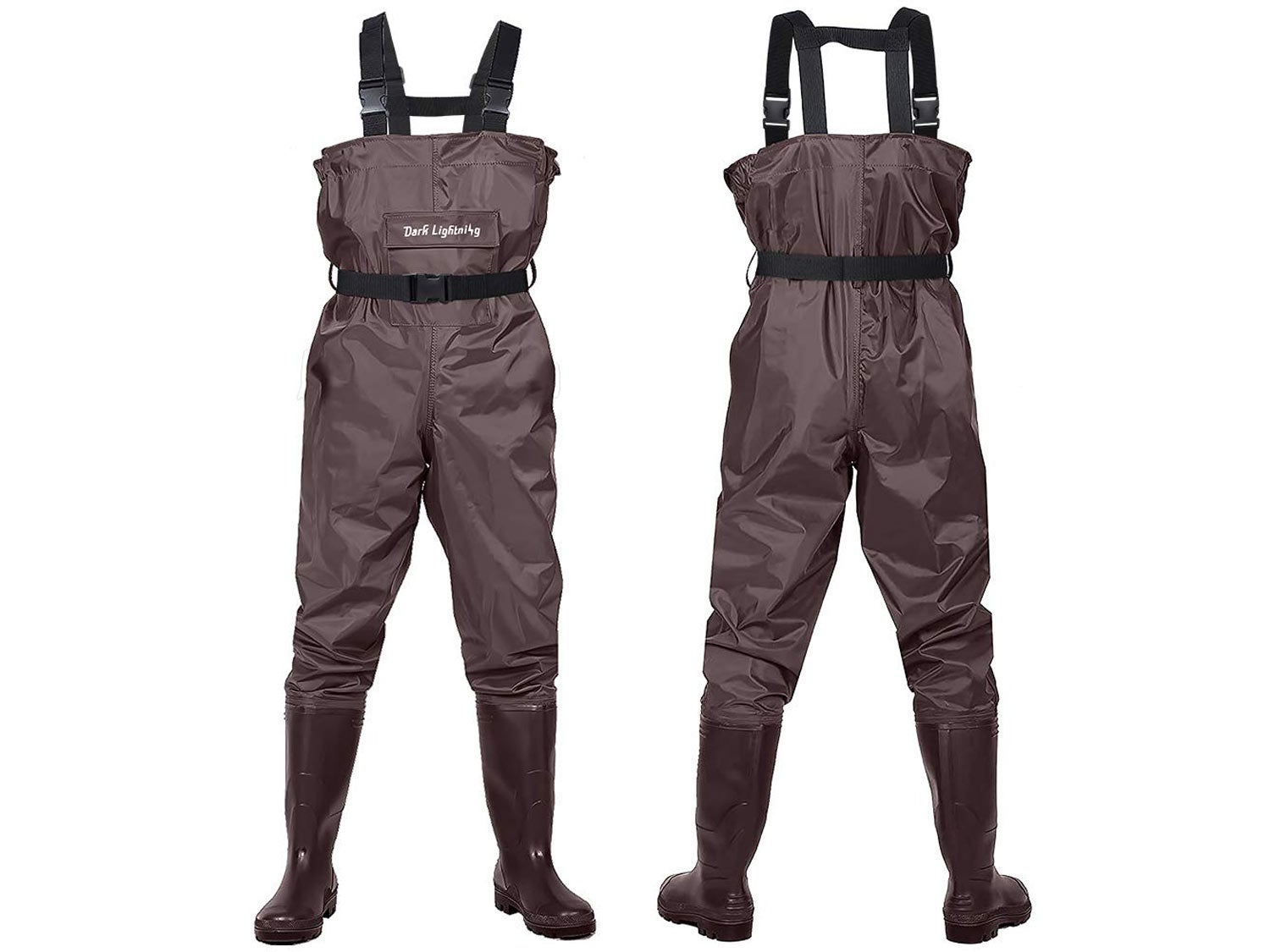 Dark Lightning Fly Fishing Waders for Men and Women with Boots