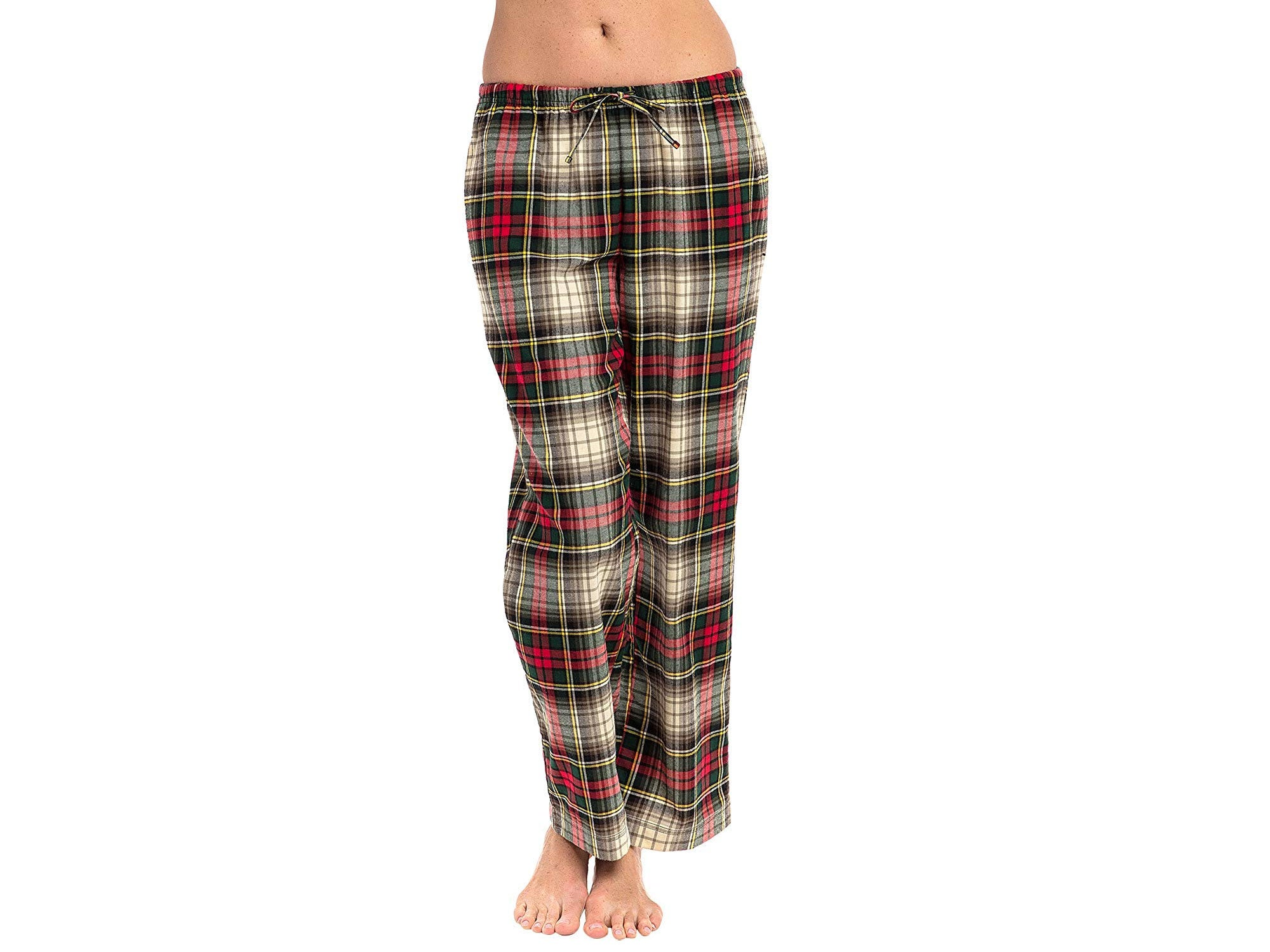 Alexander Del Rossa Women's Flannel Pajama Pants, Long Plaid Cotton Pj Bottoms