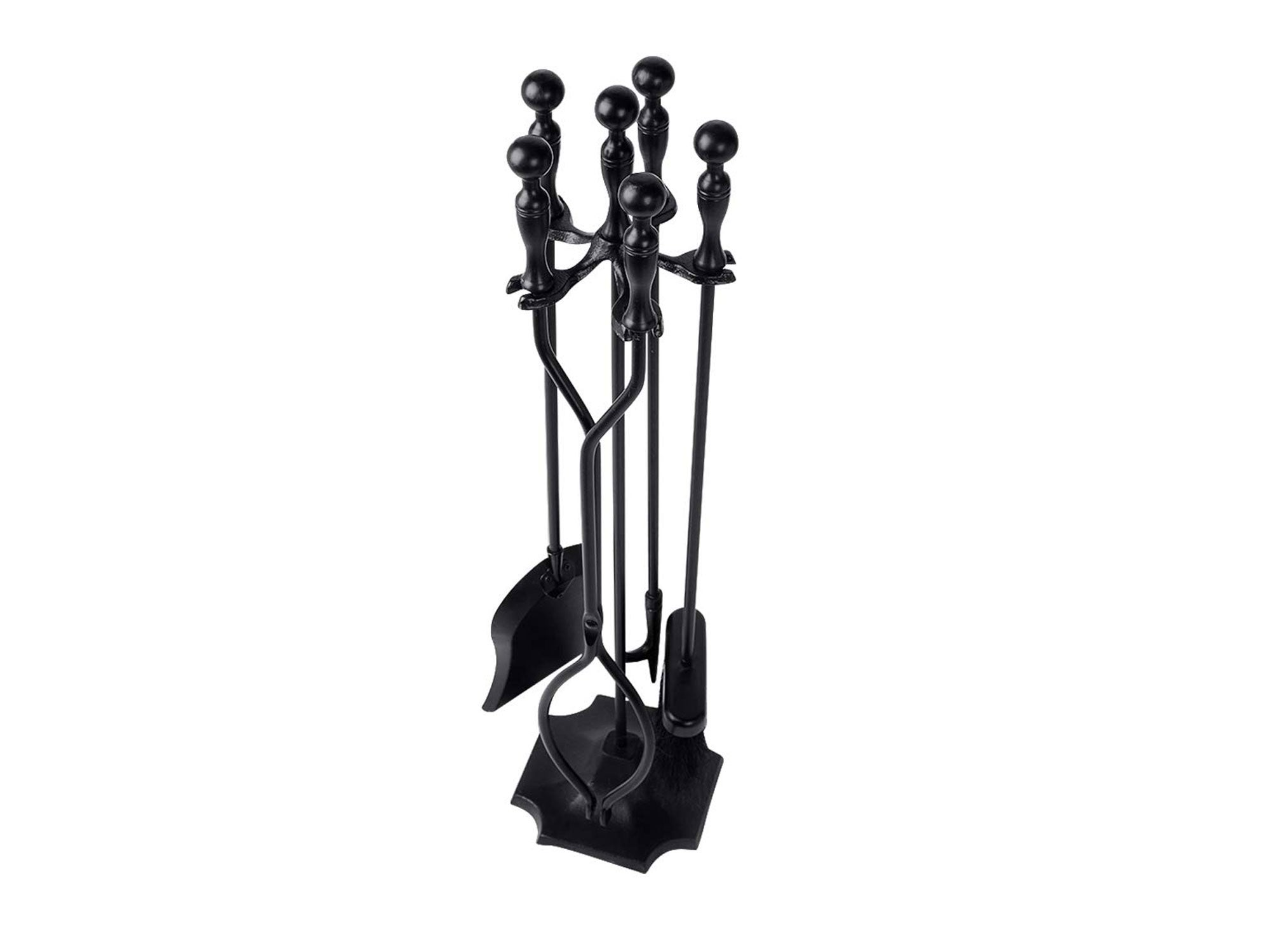Fireplace Tools Sets Black Handle Wrought Iron