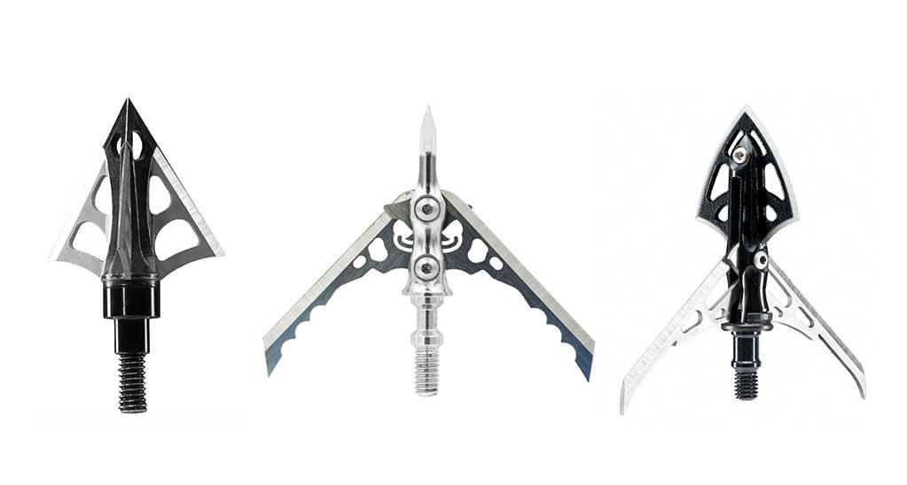 fixed-blade, mechanical, and hybrid broadheads