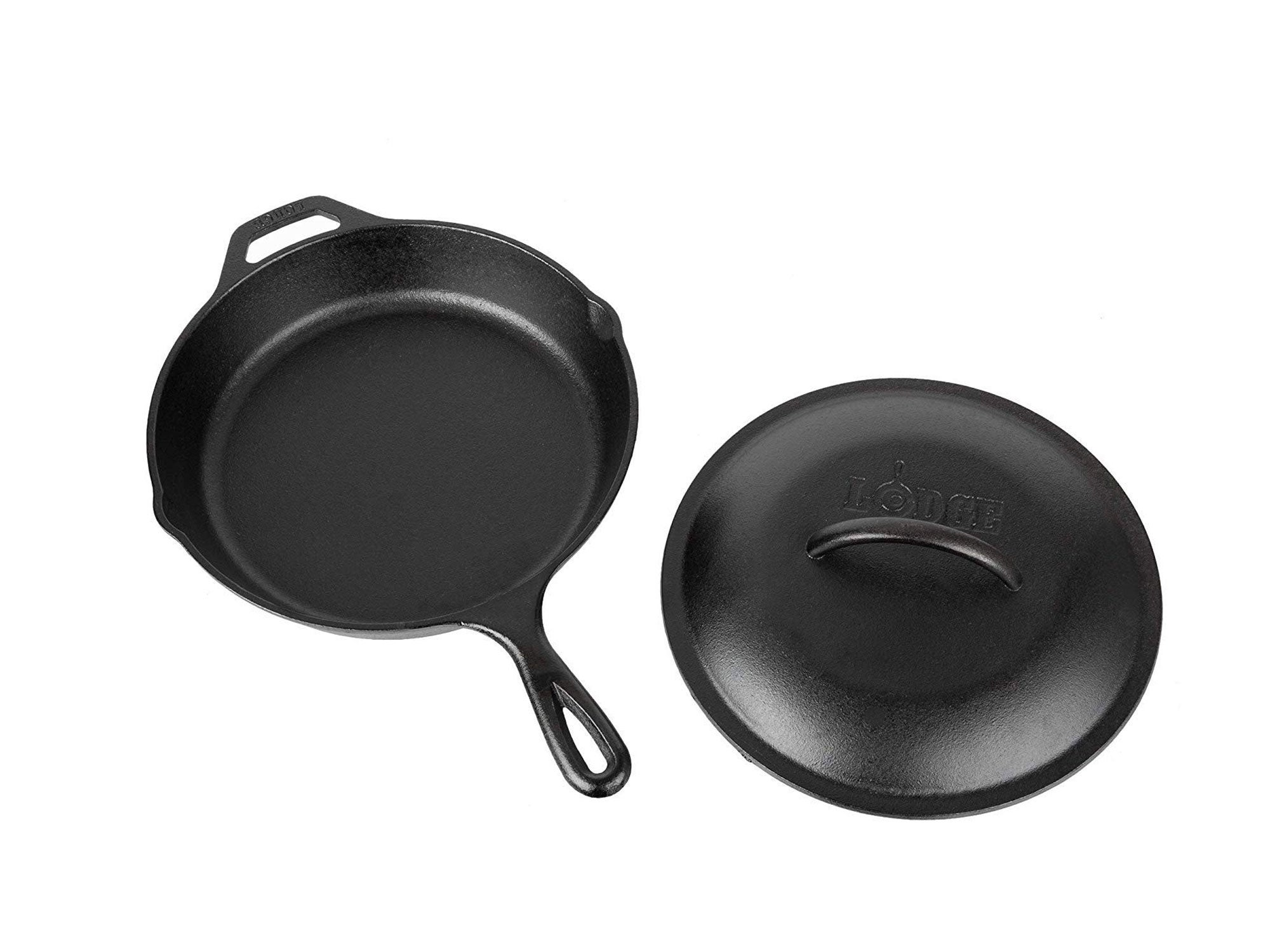 Lodge 10.25 Inch Cast Iron Skillet with Cover