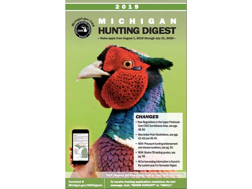 Michigan DNR hunting regulations booklet