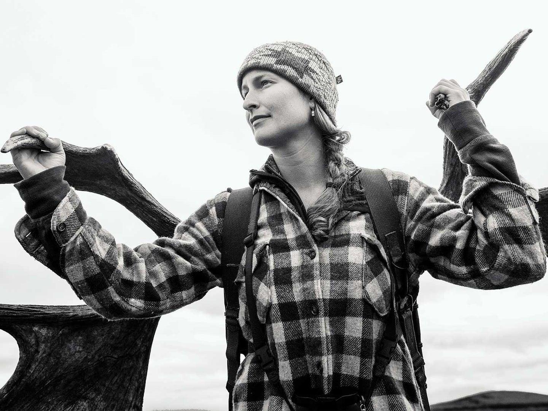Black and white image of Tia Shoemaker