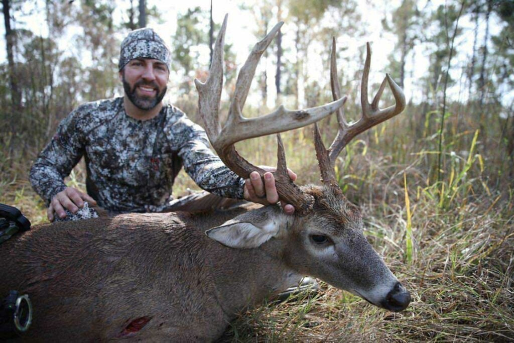 Andy Ganas' 5½ year old Georgia buck should gross in the 150s.