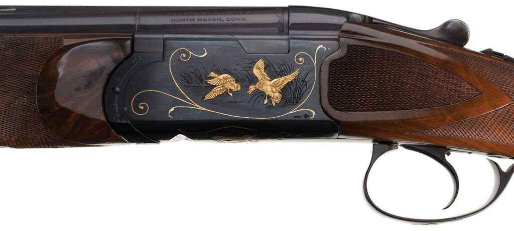 A detail of the engraving on the Pedersen Model 1000.