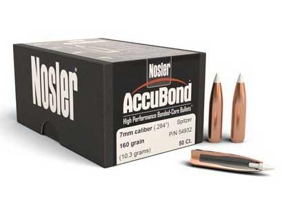 Nosler 160 grain AccuBond bullets in 7mm