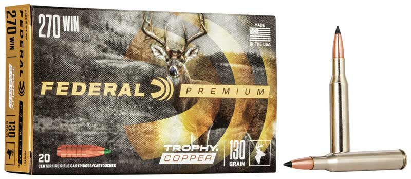Federal Trophy Copper in .270 Winchester.