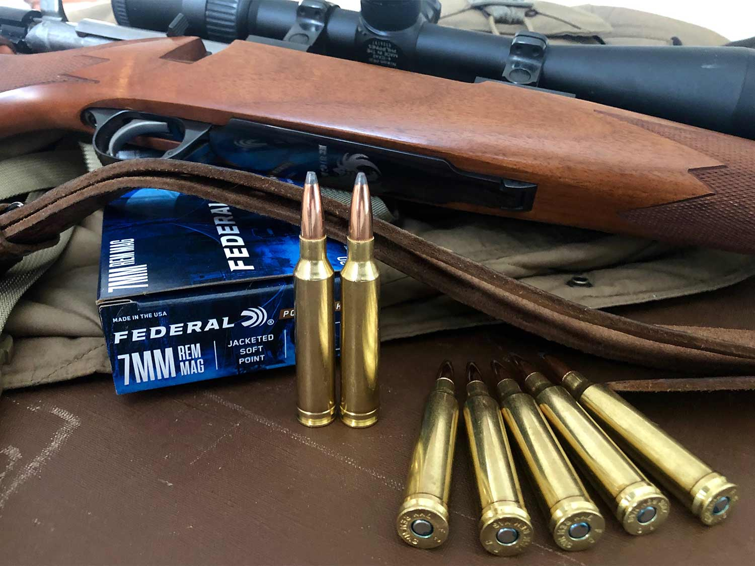 The 7mm Mag and rifle.