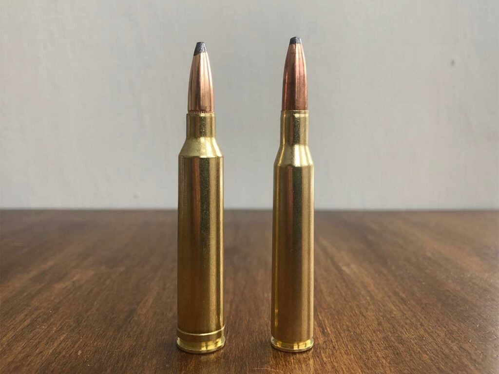 The 7mm Remington Magnum (left) and the .270 Winchester (right).