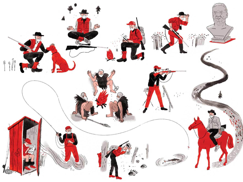 Illustrations of Old School Hunting