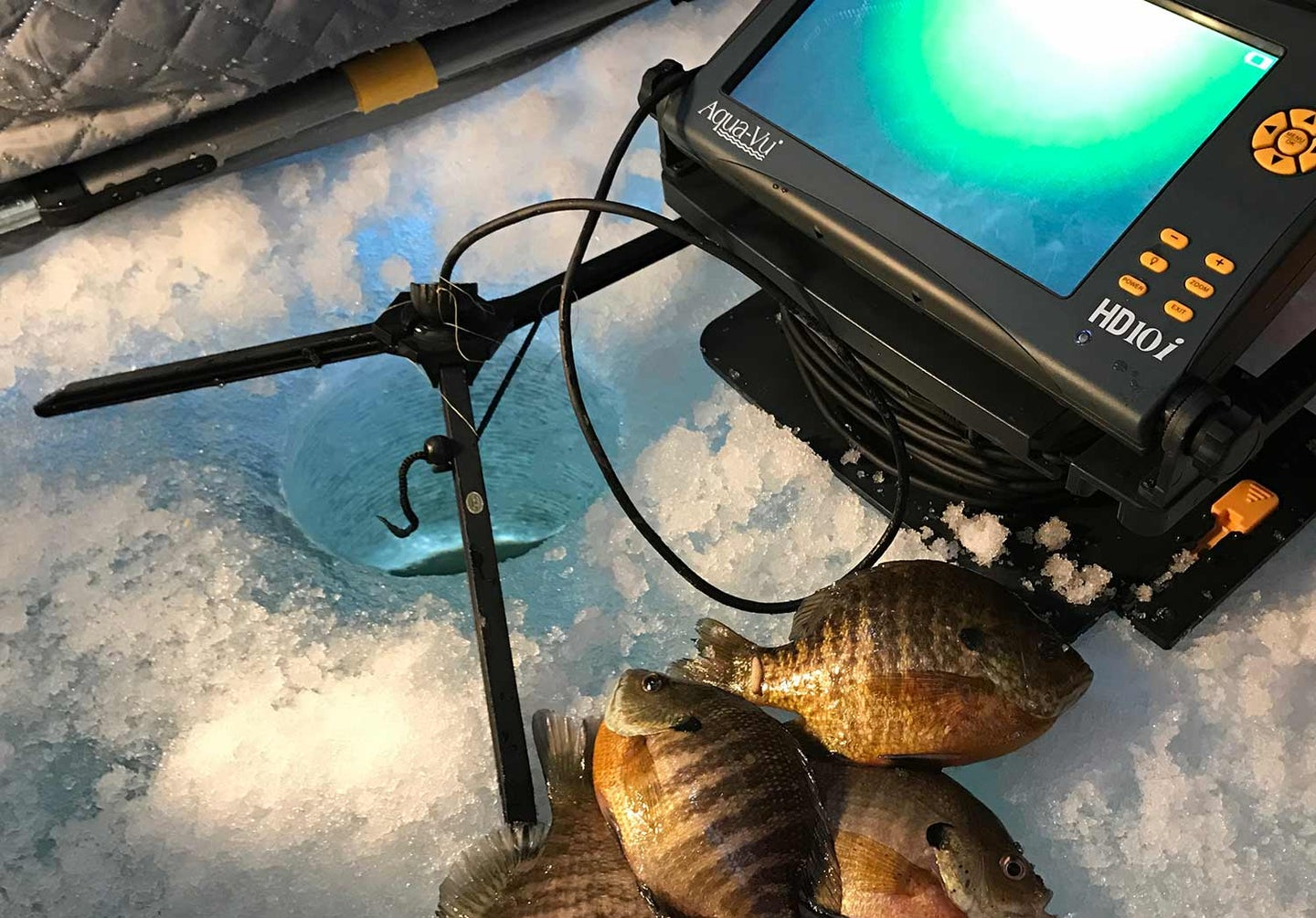 hi-def underwater cam used for ice fishing.