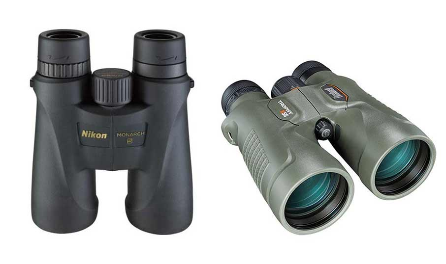The Nikon Monarch 5 and Bushnell Trophy Xtreme binoculars