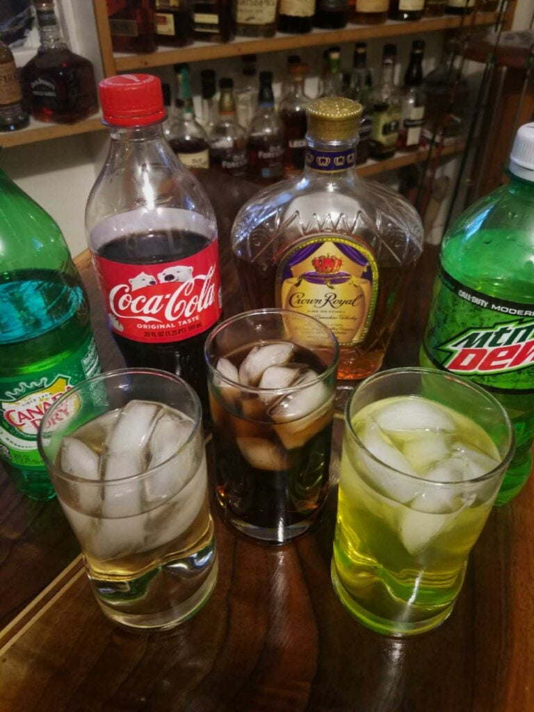 Crown Royal cocktails.