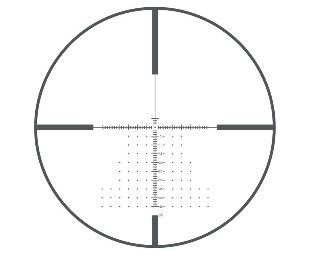 MOA hash marks on a Bushnell Forge reticle.