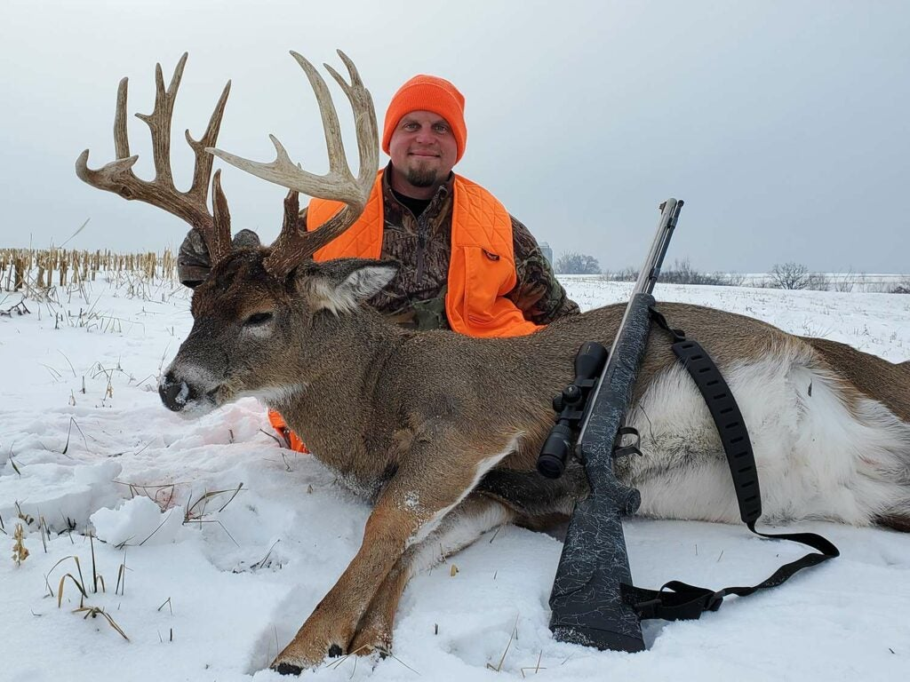Kristofor Johnson killed this Gopher State Booner on just a 40-acre property.