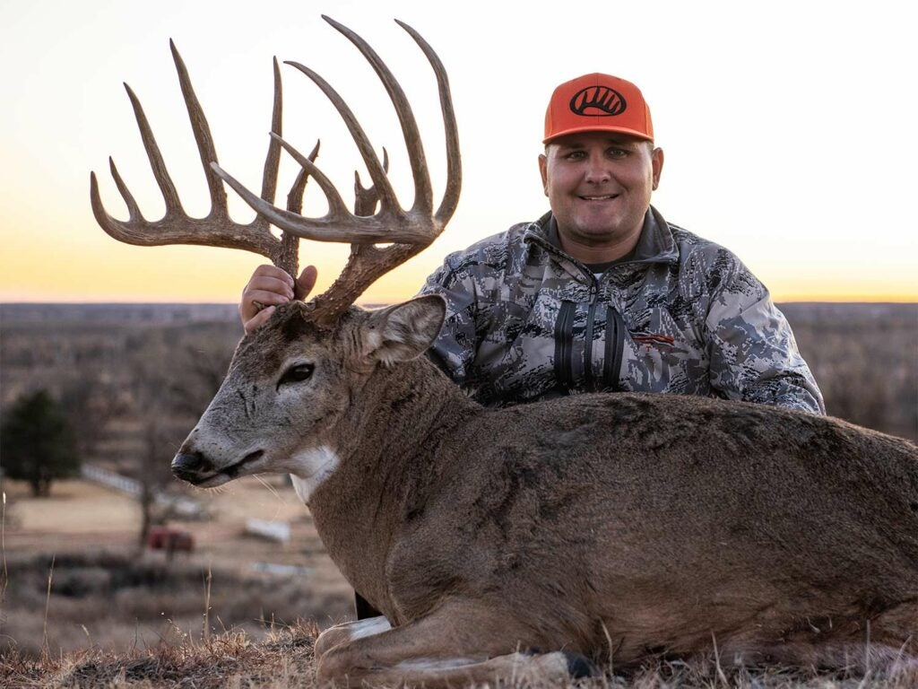 Troy Bryant's huge buck could set a new Oklahoma state record for typical whitetails.