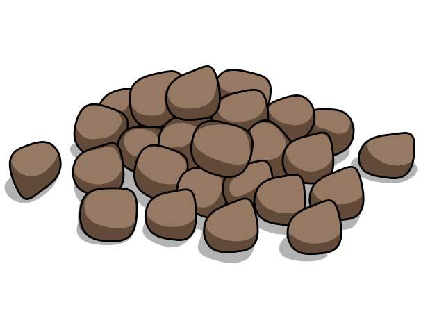 Pronghorn poop illustration.