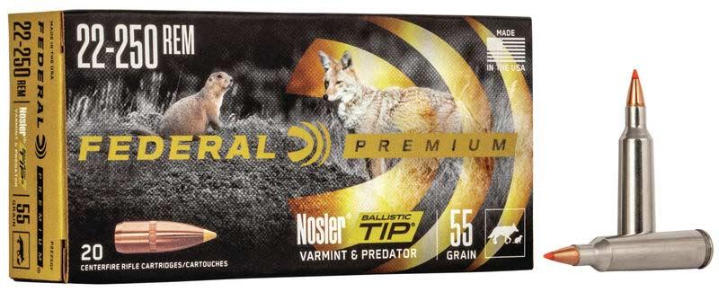 Federal Premium 22-250 Ammo
