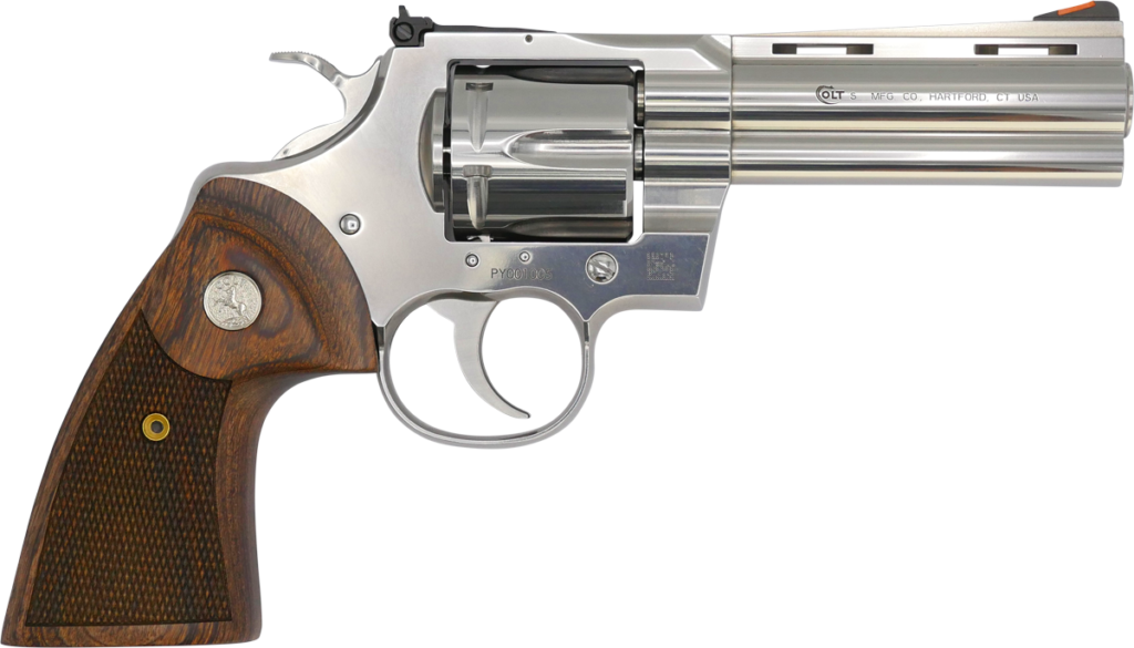 The Colt Python revolver.