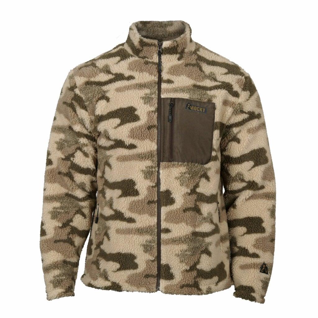 Rocky camouflage fleece.