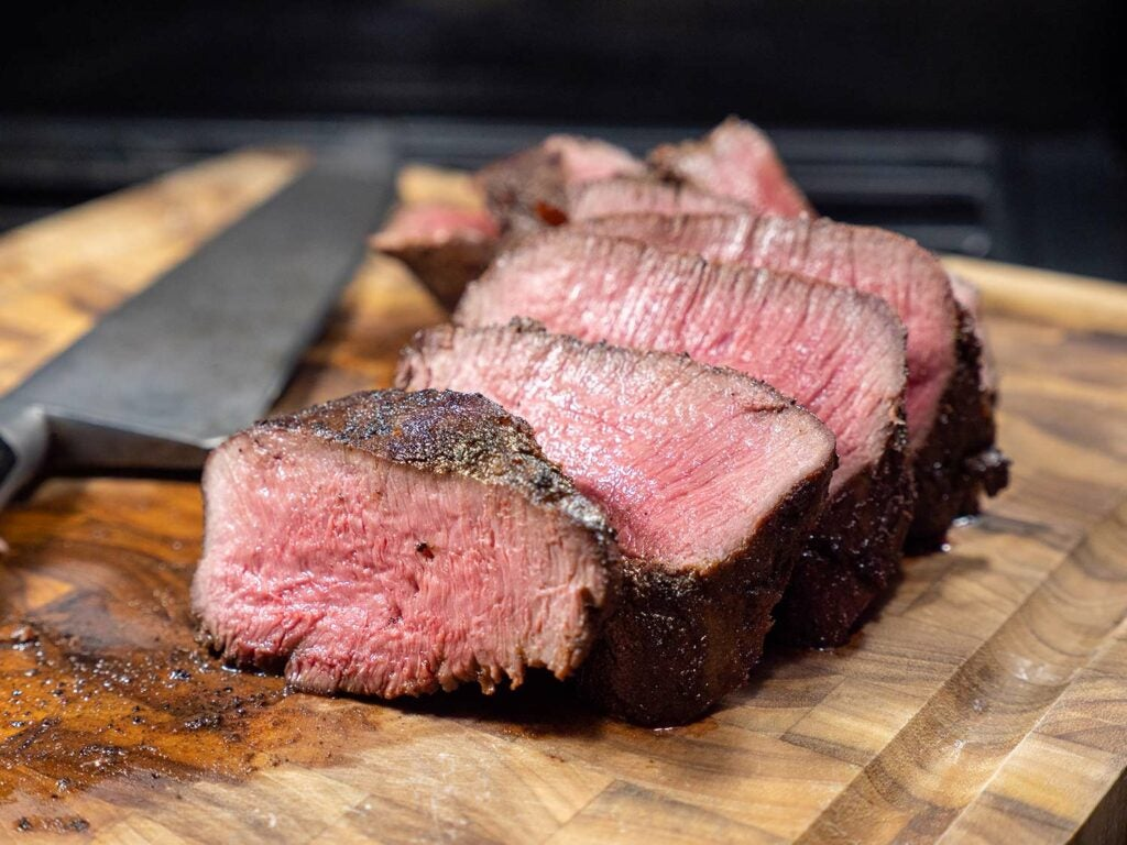 Always slice meat against the grain.