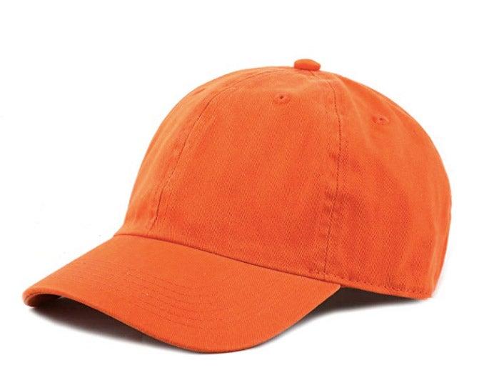 A hunter-orange hat and vest.