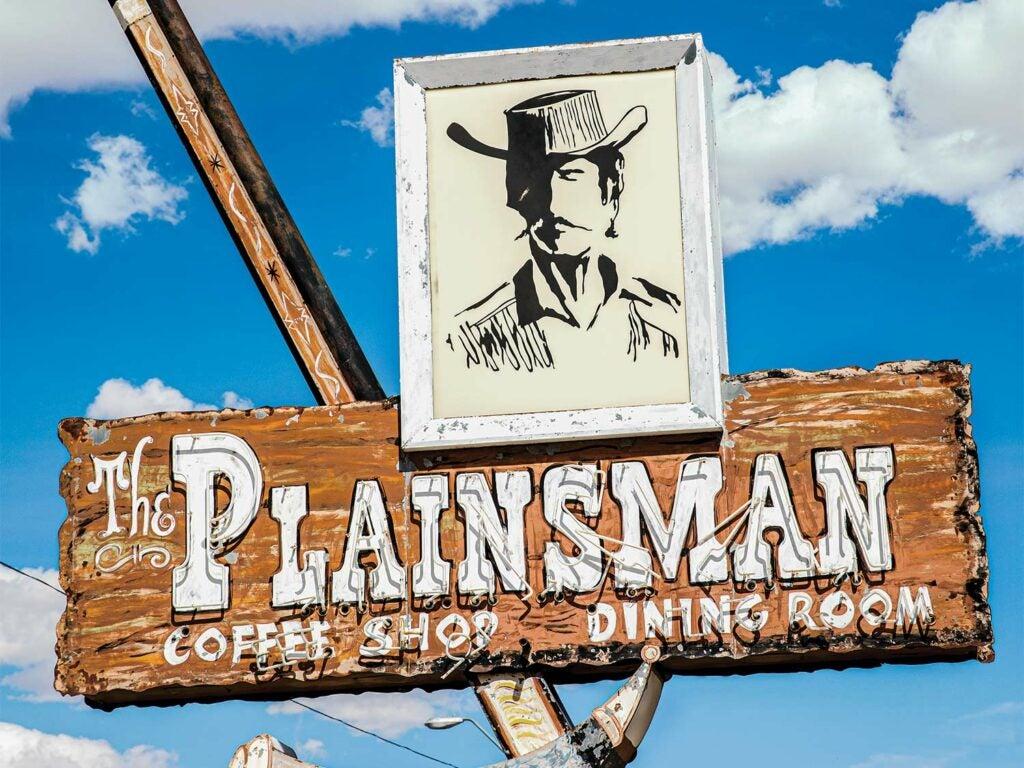 Plainsman Coffee Shop Sign