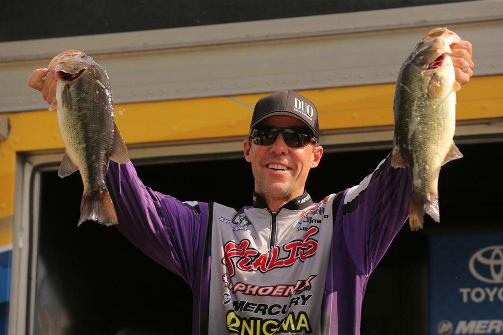 Professional bass angler Aaron Martens