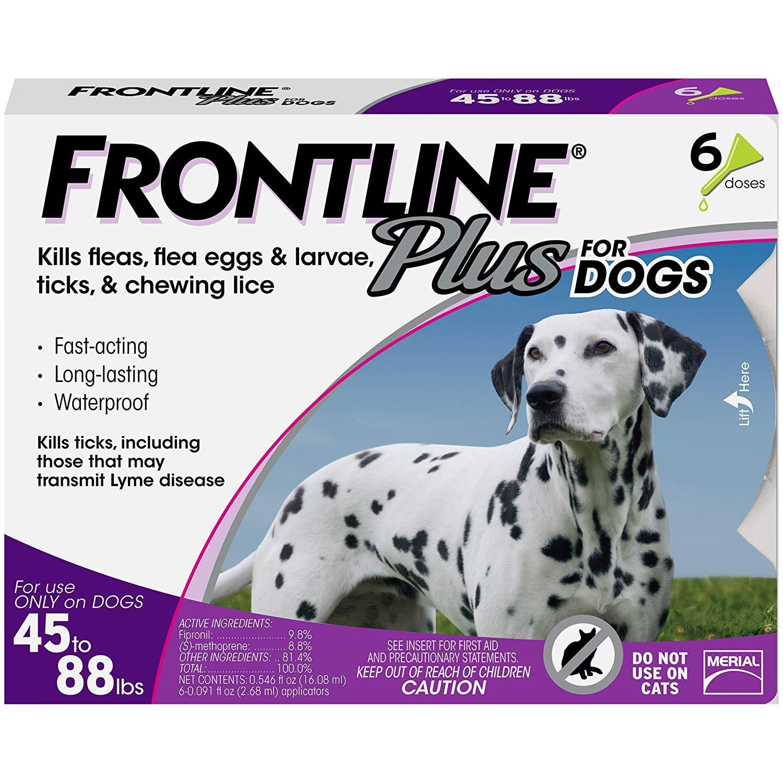 Frontline Plus flea and tick pills.