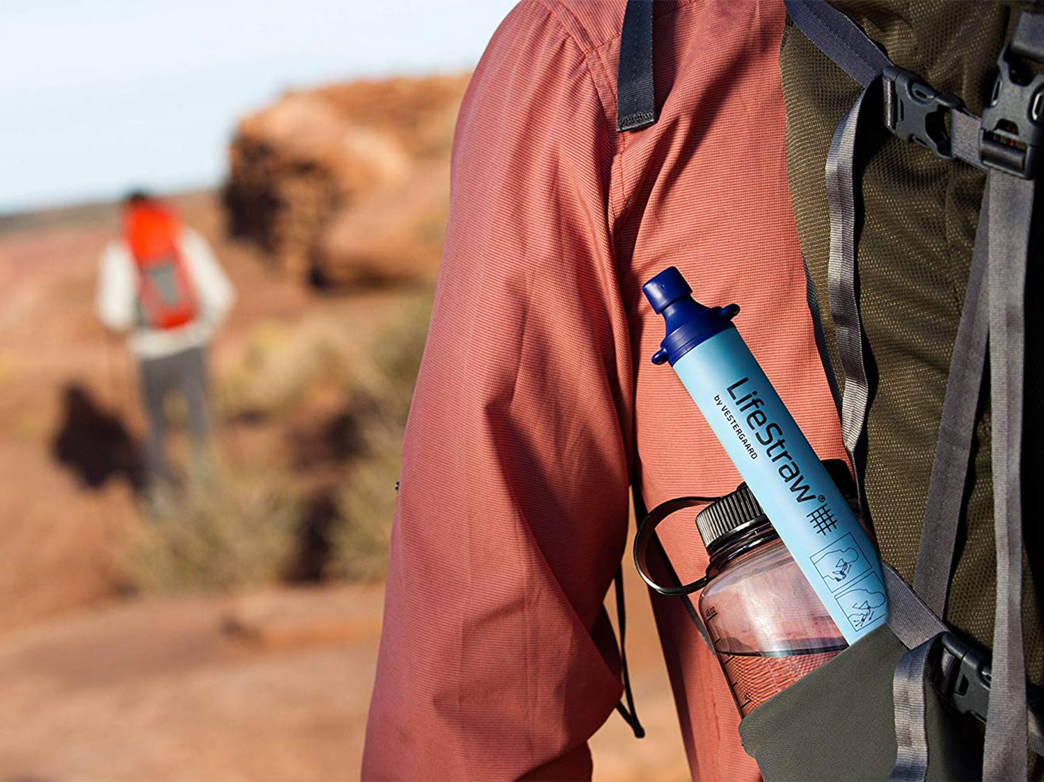 Hunters with a LifeStraw in the outdoors.