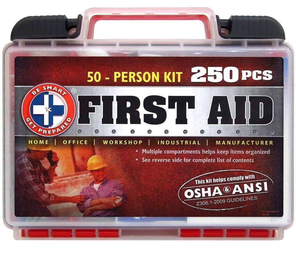 Be Smart Get Prepared 250Piece First Aid Kit