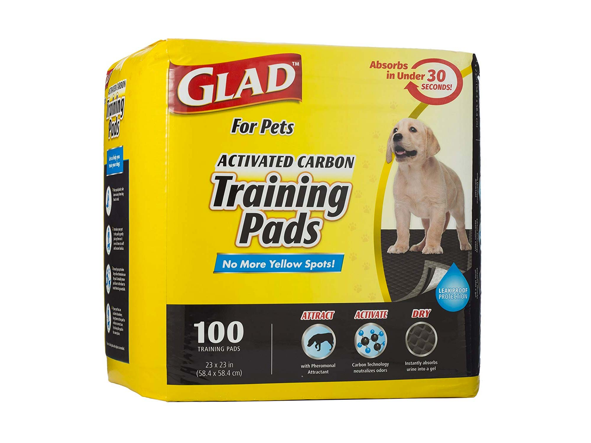 Glad for Pets Black Charcoal Puppy Pads