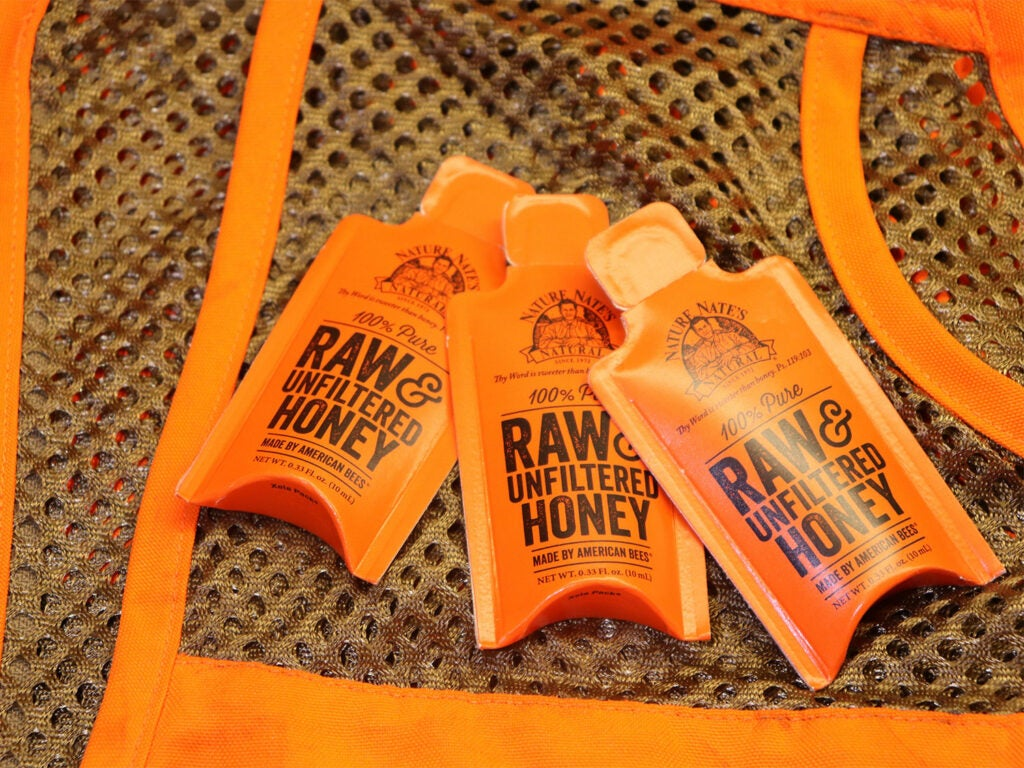 Packets of raw honey.
