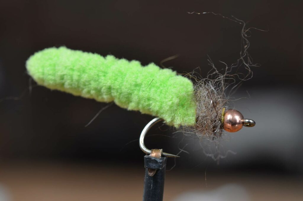 a green Mop Fly lure