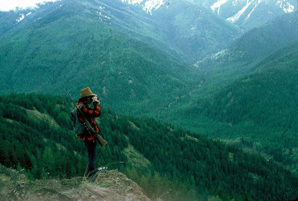 Gerald Almy glassing on National Forest land in northwest Montana.